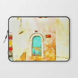 Buildings in the historic center of Tortora Laptop Sleeve