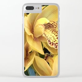 Yummy Yellow Orchid With Luxurious Magenta Red Spots Clear iPhone Case