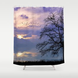 Lilac Sunset Shower Curtain