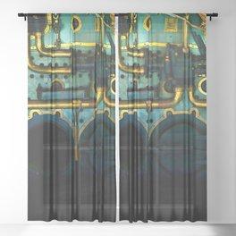 Industrial Victorian Sheer Curtain