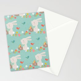 Amazing Easter Bunnies Design Stationery Cards