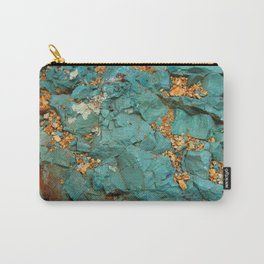 Gold and Copper Carry-All Pouch