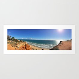 Birds eye view of one of the Algarve's sunny beaches Art Print