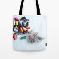 tangled Tote Bags featuring Tangled by myhideaway