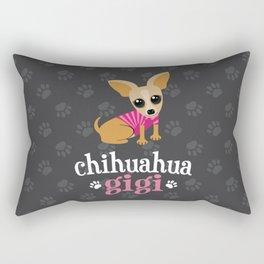Chihuahua Gigi Great Grandma Cute Dog Lover Gray Rectangular Pillow