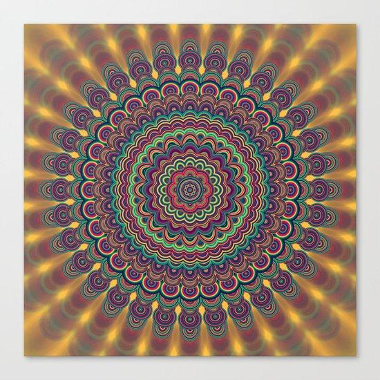 Psychedelic oval  mandala Canvas Print