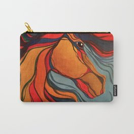 Wild Horse Breaking Free Southwestern Style Carry-All Pouch