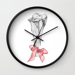 Bowed Bone Wall Clock