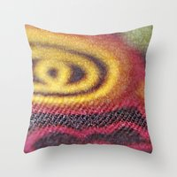stained glass Throw Pillows featuring Stained Glass by Stephen Linhart