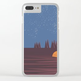 Camping under the Stars Clear iPhone Case