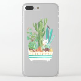 Desert planter Clear iPhone Case