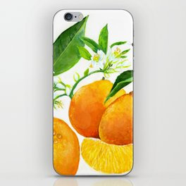Oranges and their blossoms iPhone Skin