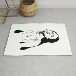angelina jolie fan art  Rug
