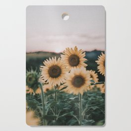 sunflowers / sunset Cutting Board