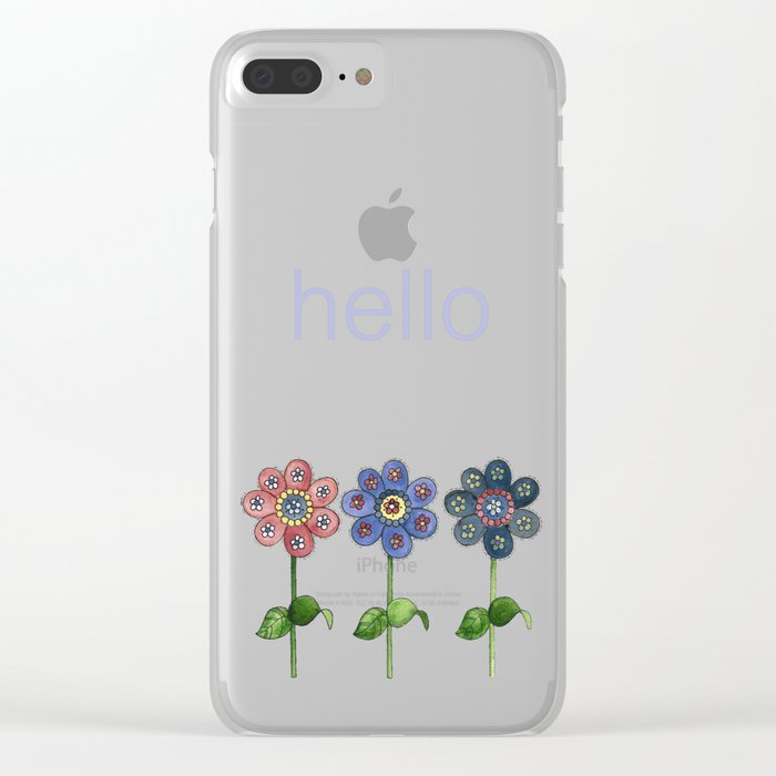 Flower Row Clear iPhone Case
