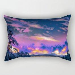 Night Sky Sunset Rectangular Pillow