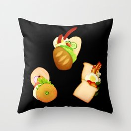Bread and Sandwiches Throw Pillow