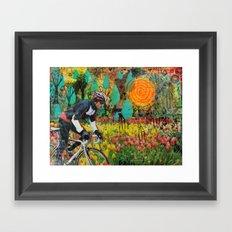 Through the Tulips Framed Art Print