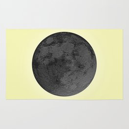 BLACK MOON + CANARY YELLOW SKY Rug