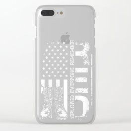 Womens Red Friday Remember Everyone Deployed Military V-Neck T-Shirt Clear iPhone Case