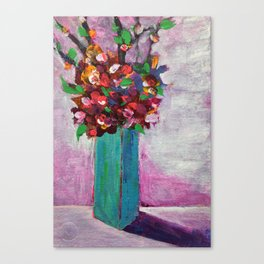 Teal vase Canvas Print