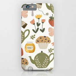Afternoon Tea Time in the Garden iPhone Case