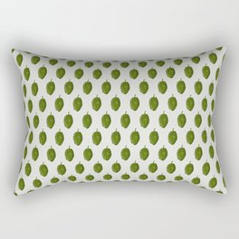Hops Light Gray Pattern Rectangular Pillow