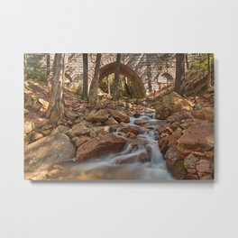 Hadlock Bridge Brook Metal Print