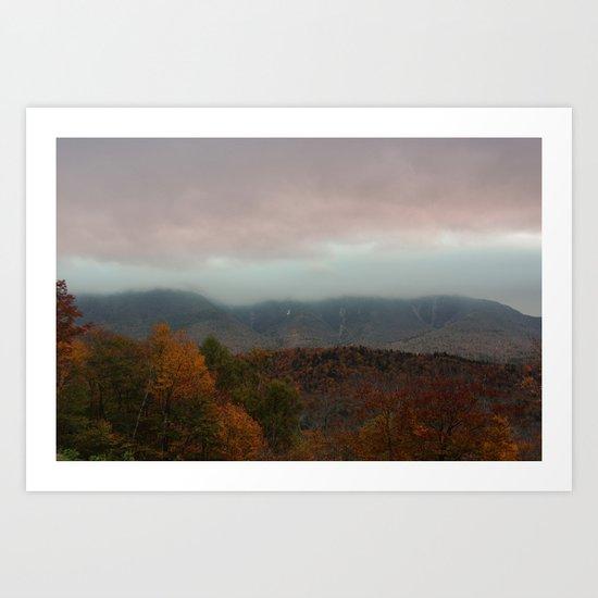 Fog Rolling Over The Hills Art Print