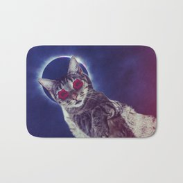 spaced out cat Bath Mat