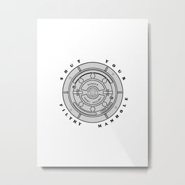Filthy Manhole Metal Print