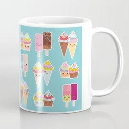 Kawaii cupcakes, ice cream in waffle cones, ice lolly Coffee Mug