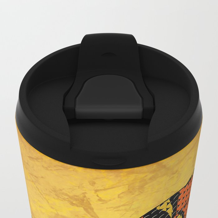 Mexican Candy Corn Snake Metal Travel Mug