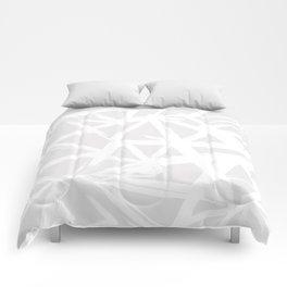 Modern white abstract geometric brushstrokes light grey Comforters