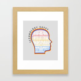 Technology Savvy Framed Art Print