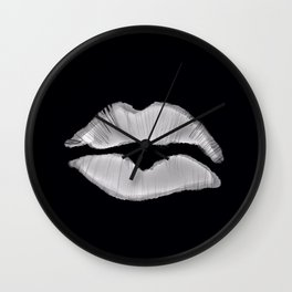 Black and white lip mark Wall Clock