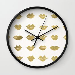 Kiss Collection – Gold Ink Wall Clock