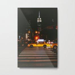 New York at Night Metal Print
