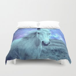 Blue Horse Celestial Dreams Duvet Cover