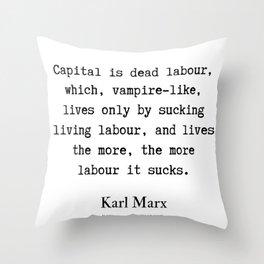 56    Karl Marx Quotes   190817 Throw Pillow