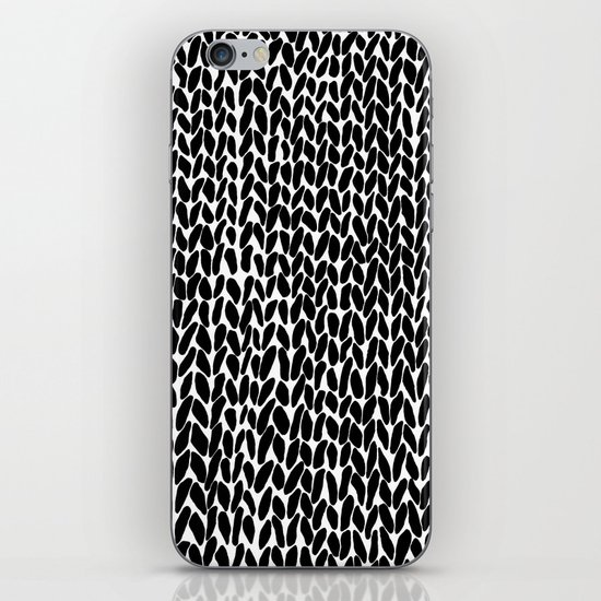 Hand Knitted Black S iPhone Skin