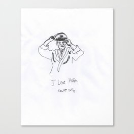 'I love Hugh' Canvas Print