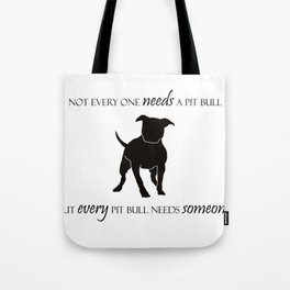 Love is a pit bull No. 8 Tote Bag