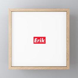 Erik Framed Mini Art Print