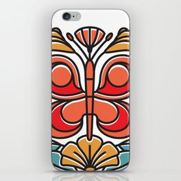Butterfly tile iPhone Skin