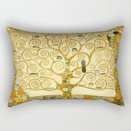 "Gustav Klimt ""Tree of life"" Rectangular Pillow"