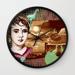 Rose Marry and moon light Wall Clock
