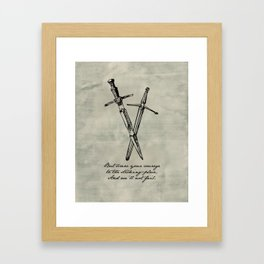 Shakespeare - Macbeth - Courage to the Sticking Place Framed Art Print