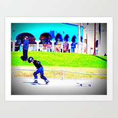 young skater Art Print