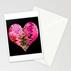 Pink Heart Broken Love Stationery Cards